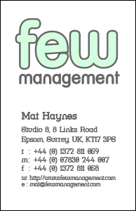 Few Management Business Card